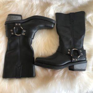 Harley-Davidson Hustin Harness Black Leather Boots